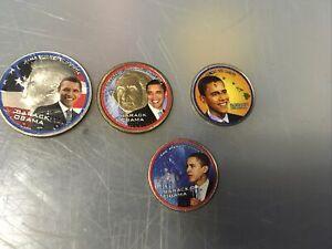 President Obama Coins half dollar Gold Dollar 2 Quarters new no Paper Work