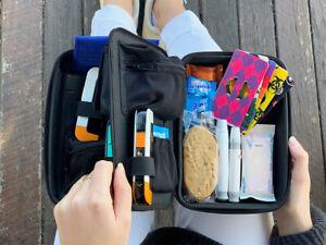 Glucology Diabetes Travel Case   Multi-compartment Bag Organizer   8 Colours