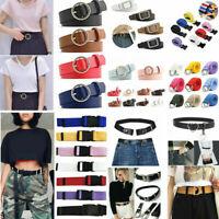 Unisex Waist Belt Mens Womens Plain Webbing Waistband Casual Canvas Long Belts