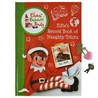 A5 Elf Secret Notebook Padlock Diary Kids Stocking Filler Xmas Christmas Gift