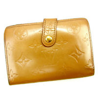 Louis Vuitton Wallet Purse Coin purse Vernis Brown Woman Authentic Used Y6629