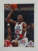 Michael Jordan 1991-92 Upper Deck #48 All Star Checklist Chicago Bulls HOF GOAT
