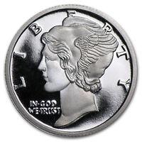 1/10 oz Silver Round - APMEX (Mercury Dime)  .999 Solid Silver Bullion Art-Round