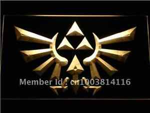New Zelda Triforce video game hanging LED Neon Light Sign Bar Man Cave 7 colors
