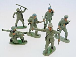 COMANSI ou REAMSA en plastique - Lot 6 de soldats américains et japonais