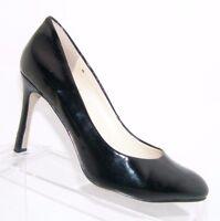 Nine West 'Drusilla' black almond toe man-made patent heel women shoe pumps 6.5M