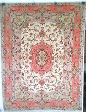 Tappeto persiano Tabriz 60 raj extrafine misto seta, dimensione 198 x 151 cm.