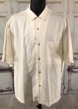 NAT NAST Luxury Originals Shirt Silk Short Sleeve Button Front Camp X-large XL