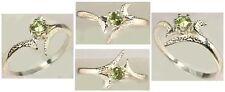 RARE 19th Century Antique Gemstone Demantoid Garnet Sterling Silver Ring