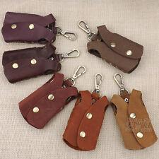 Men Vintage Retro Leather 6 Keyrings Holder Clothes Shape Key Chains Holder