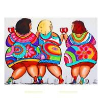 """5D DIY Diamond Painting """"Sexy Fat Woman"""" Embroidery Cross Stitch Home Wall Decor"""