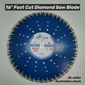 "16"" (400mm) Premium Speedy Laser welded diamond blade Concrete Brick Block Pave"