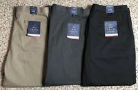 Men's Croft & Barrow No Iron Stretch Khaki Classic-Fit Flat-Front Pants, NWT