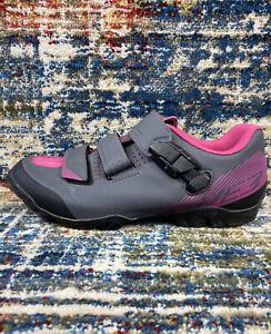 Shimano ME3 MTB Shoes Grey/Pink Womens EU 40 US 7.8 w/SPD Cleats