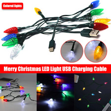 Merry Christmas light LED USB cable DCI Charger lighting cord iPhone 7, 8,X,11