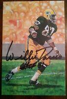 Green Bay Packers Willie Davis signed Goal Line Art Card GLAC HOF 1275/5000