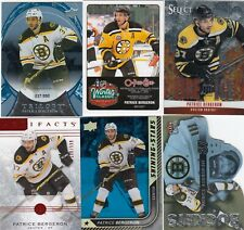 PATRICE BERGERON a lot of 6 DIFFERENTS CARDS INSERTS  LOT 27