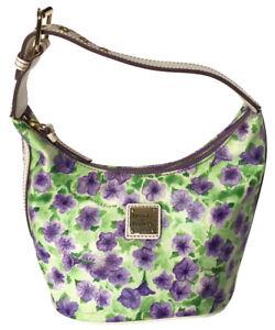 NWOT DOONEY & BOURKE Bucket Shoulder Bag Purple Petunia Flowers