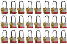 Lion Locks 5PLS Keyed-Alike Padlock, 1-9/16-inch Wide 2-inch Shackle, 24-Pack