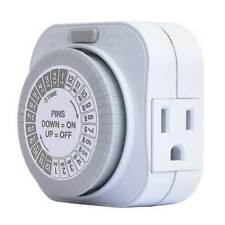 15 Amp 24 Hour Heavy Duty Mechanical Outlet Daily Automatic Light Timer