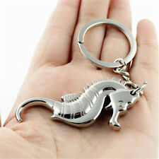 Silver Metal Keyrings Seahorse Pendant Keychains