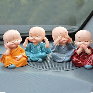 4Pcs/Set  resin Little Monk For Garden Desktop Decorations Figurines Car art_yk
