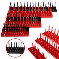 """6pcs 1/4"""" 3/8"""" 1/2"""" Metric SAE Socket Tray Rack Holder Garage Tool Organizer"""