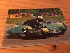Carte postale moto Side-car Auerbacher et Hane Hockenheim CP