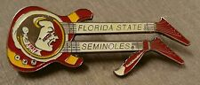 FLORIDA STATE SEMINOLES DOUBLE NECK GUITAR LAPEL PIN