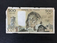 France 500 Francs Banknote 1991 Old Collectible Foreign Collectible Paper Money