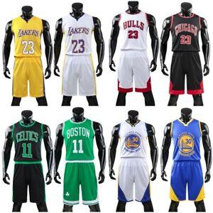 Adult Mens Basketball Kit Training Suit Sport Vest Shorts Jerseys Set Tracksuit