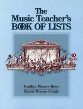 The Music Teacher's Book of Lists (Paperback or Softback)