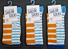 3 Pares de Calcetines de Bambú para mujer Sailor Seasalt Talla 3-8 Reino Unido 36-42 Bretón Arenisca
