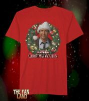 New Christmas Vacation Clark Griswold Chevy Chase Wreath Men's Vintage T-Shirt
