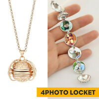 Chic Multi-layer Photo Locket Angel Wing Pendant Chain Necklace Jewelry Gifts