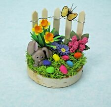 With My Hands Handmade Miniature Dollhouse Easter Garden Scene