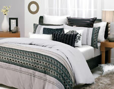 New Logan & Mason Conway Steel DOUBLE Size Quilt Doona Cover Set