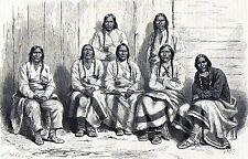 Antique print Denver Colorado Cheyenne Arapaho indians / stampa antica indiani