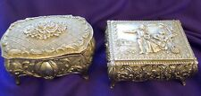 TWO METAL JEWELRY BOXES