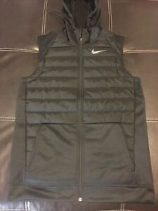 Nike Therma Winterized Full-Zip Black Training Vest BV4534-011 Men's Size S $90