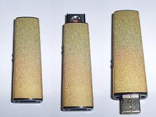 briquet USB doré