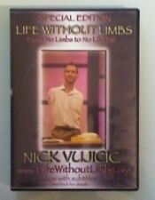 nick vujicic LIFE WITHOUT LIMBS from no limbs to no limits ! DVD special edition