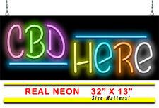 "Neon Sign Here | Jantec | 32"" x 13"" | Smoke Shop Vape Shop Neon Light Oil"
