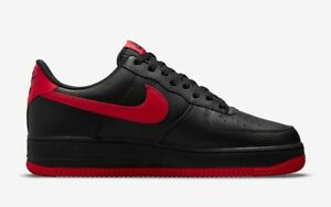 Nike Air Force One 07 Low BRED BLACK RED NEW DC2911-001 Mens 8-13
