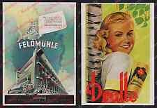 o. Farb-Reklame Papiermaschine Feldmühle Papierwerk Handwerk Papyrer Berlin 1942