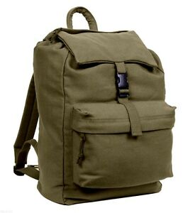 pack backpack daypack canvas olive drab rothco 2169