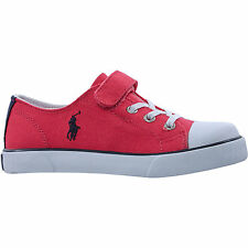 POLO RALPH LAUREN Kids Dark Pink Canvas Shoes Sneakers size 2.5 - New