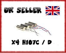 HUBSAN X4 MOTORS  H107C/D COMPLETE SET QUADCOPTER UK SELLER