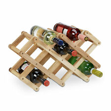 Étagère bouteilles de vin noyer porte-bouteilles en bois 8 places alvéole