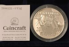 1996 LUXEMBOURG SILVER PROOF 20 EURO COIN EURO COLLECTION HENRI PAYS BAS & CERT